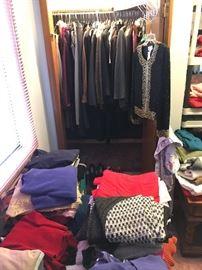 ladies suits, coats, sweaters