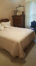 Full size Bed, Dresser, Mirror