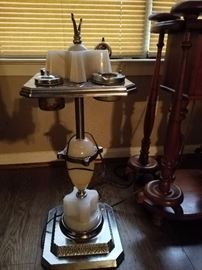 1950s ash tray &cigarette set with lamp