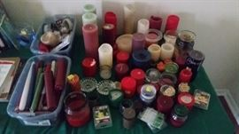 Box lot of candles