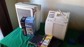 Two air purifier with filters