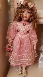 Victorian style porcelain doll