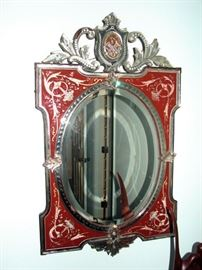 Antique Venetian painted mirror