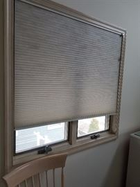 Beautiful Hunter-Douglas honeycomb blinds throughout