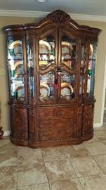Curved front china cabinet and gorgeous China from Japan
