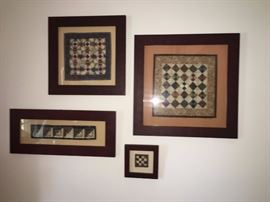 Framed miniature quilts