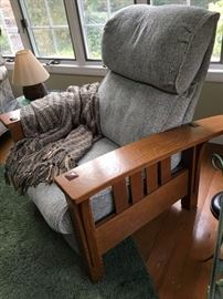 Stickley Mission Oak reclining chair -one of a pair
