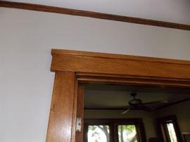 Vintage Oak Door Casing  Trim