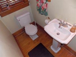 Pedestal Sink Toilet