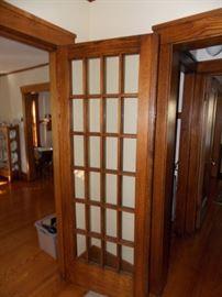 Antique Oak French Door