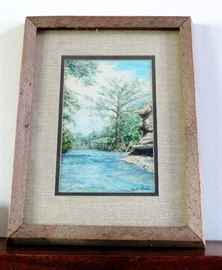 Watercolor with Barn Wood Frame