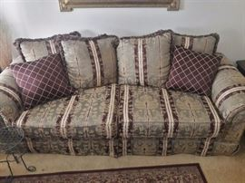 4 piece sofa set with loveseat, accent chair and ottoman