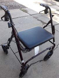 Newer heavy-duty rollator walker