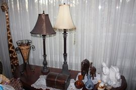 Table lamp sets, hanging lamps, home decor