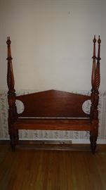 Beautiful antique four poster bed.