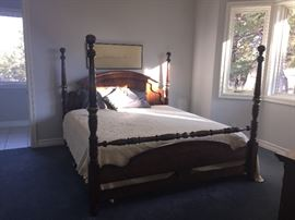 King size poster bed