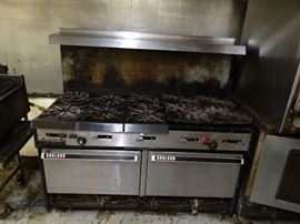 Garland 60'' (10) Burner Range With Double Oven Be ...