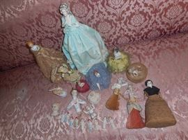 China dolls, doll heads, and doll brushes,