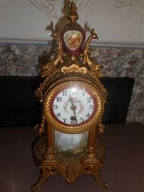Ornate Mantle Clock.