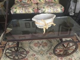 Antique Wagon made into Coffee Table