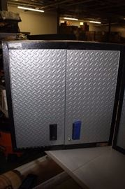 Gladiator Steel Garage Wall Cabinet in Silver Trea ...