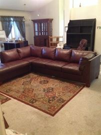 Nice leather sectional couch