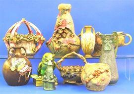 Amphora and Teplitz pottery