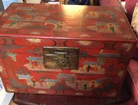 Oriental Painted Box.