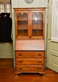 Vintage Secretary Chest with Display Hutch