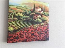 Tuscan print on canvas $8