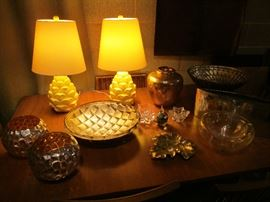 Artichoke lamps and mercury glass