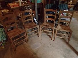 Set of ladder chairs