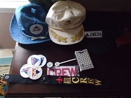 Delta Memorabilia. Also available will be buttons, pilot uniform with hat, pilot logs, and flight manuals