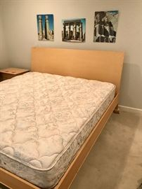 Super nice king size bed, Natural Maple, Baronet Furniture.  House of Denmark