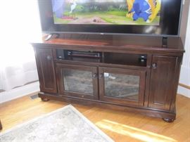 Flat Screen TV and TV Console
