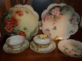 vintage hand painted china