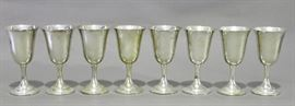 Set of 8 Sterling goblets