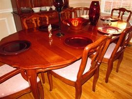 Southern Colonial Solid Cherry Dining Table and 6 Chairs