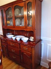 Southern Colonial Cherry China Cabinet