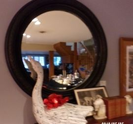 Large Antique mirror and swan