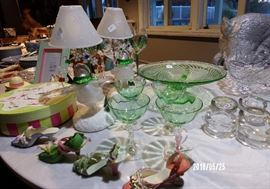 Christmas and Vintage glassware