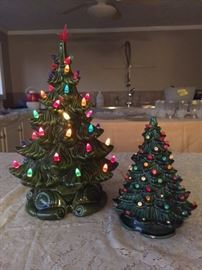 Vintage 1960's Ceramic Lighted Christmas Tree
