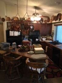 COPPER, BAR STOOLS, COLLECTIBLES