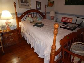 Full Size Bed with Dresser, Chest of Drawers, 2 Nightstands - $425 All