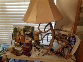 Antler lamp, antlers & more