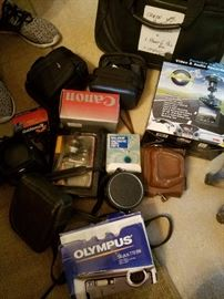Canon and Olympus camera gear