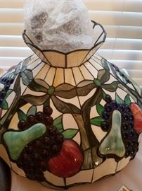 Colorful stained glass shade for your kitchen or dining room!