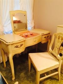 French Provencal Vanity and Chair