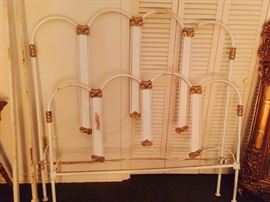 Antique Iron Bed with Pigtail Rails