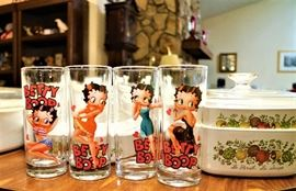 Betty Boop Collectible Glasses  and Betty Boop Socks